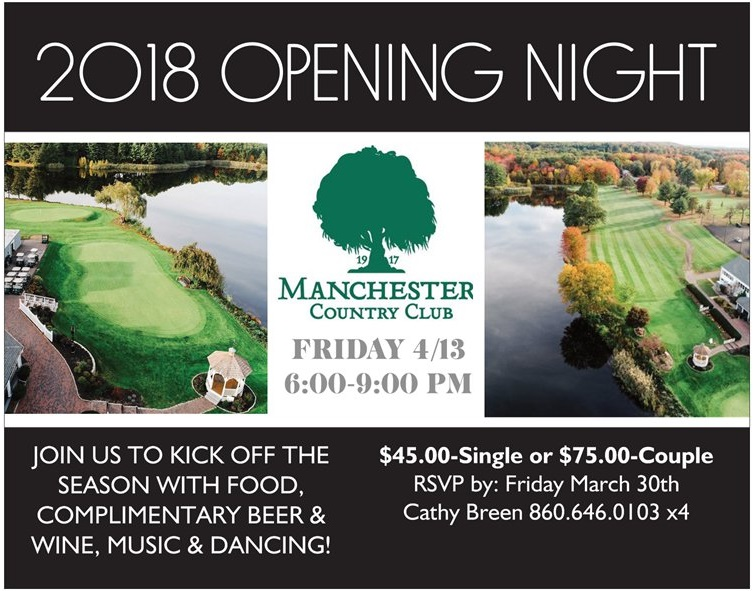 Join us for Opening Night 2018!  Friday April 13th